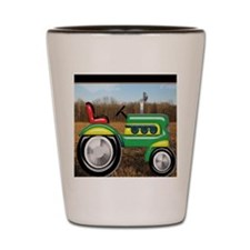 Teriffic Tractor in the Field Shot Glass