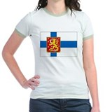 Finland w/ coat of arms Ringer T-shirt