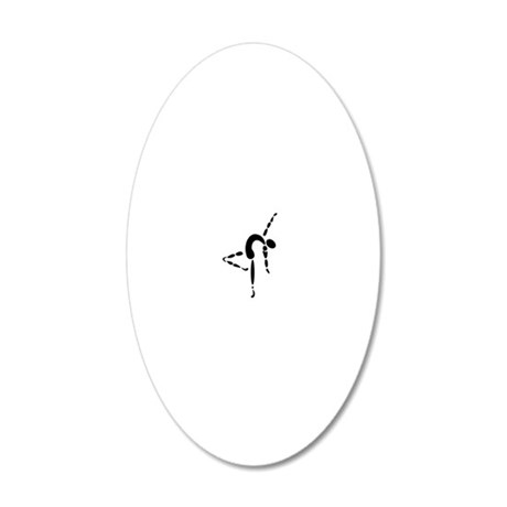 dancer 20x12 Oval Wall Decal