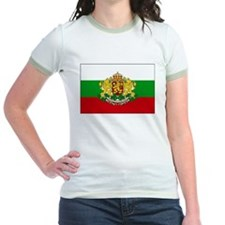 Bulgaria w/ coat of arms Ringer T-shirt