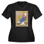 Patriotic West Women's Plus Size V-Neck Dark T-Shi