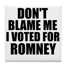 I voted Romney Tile Coaster