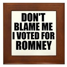 I voted Romney Framed Tile