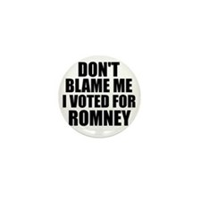 I voted Romney Mini Button