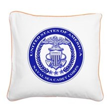 NAVAL SEA CADET CORPS SEAL Square Canvas Pillow