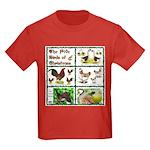 Christmas Birds Kids Dark T-Shirt