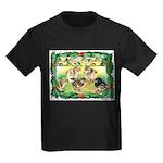 Chicks For Christmas! Kids Dark T-Shirt