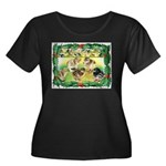 Chicks For Christmas! Women's Plus Size Scoop Neck