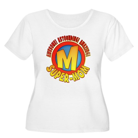 Super Mom Women's Plus Size Scoop Neck T-Shirt