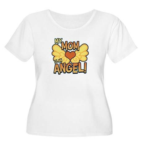 My Mom Angel Women's Plus Size Scoop Neck T-Shirt