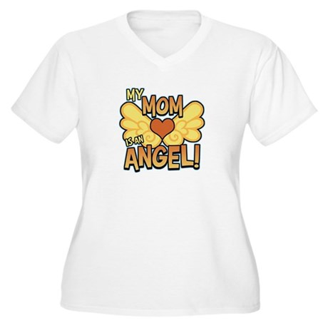 My Mom Angel Women's Plus Size V-Neck T-Shirt