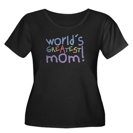 World's Greatest Mom! Women's Plus Size Scoop Neck