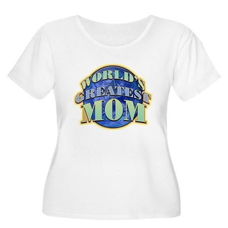 World's Greatest Mom Women's Plus Size Scoop Neck