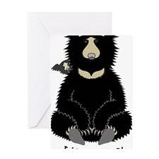 Sloth bear with cub Greeting Card
