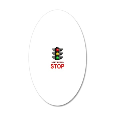 Traffic Light Stop 20x12 Oval Wall Decal