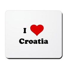 I Love Croatia Mousepad