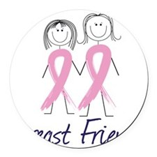 Breast Friends Round Car Magnet