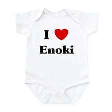 I love Enoki Infant Bodysuit