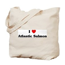 I love Atlantic Salmon Tote Bag