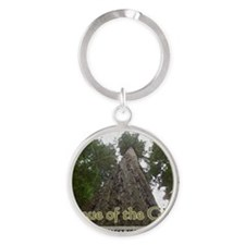 Founder's Tree Wide -  Avenue of th Round Keychain