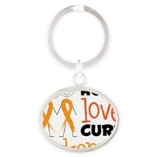 Leukemia Oval Keychain