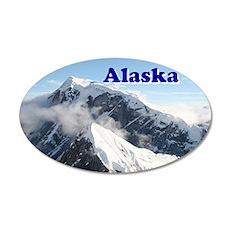 Alaska: Alaska Range, USA 20x12 Oval Wall Decal
