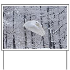 Snowy Owl, Praying Wings Yard Sign