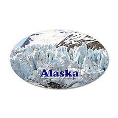 Alaska: Portage Glacier, USA 20x12 Oval Wall Decal