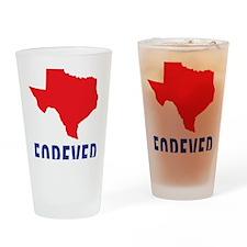 Texas Forever Drinking Glass