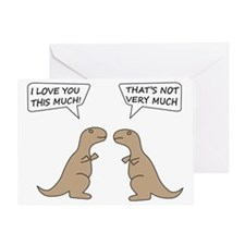 T-Rex Love.. Greeting Card
