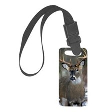 10 point buck Small Luggage Tag