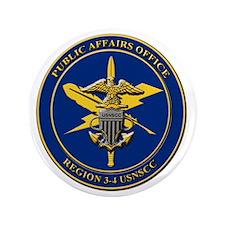 "Naval Sea Cadet Corps - Region 4-1 PAO 3.5"" Button"