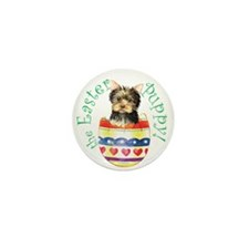 Easter Yorkie Mini Button