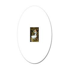Waterhouse Ophelia 20x12 Oval Wall Decal
