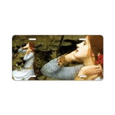 Waterhouse Ophelia Aluminum License Plate