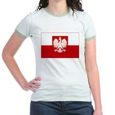 Poland w/ coat of arms Ringer T-shirt