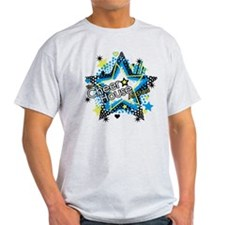 funky star black T-Shirt