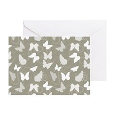 White Butterflies Greeting Card
