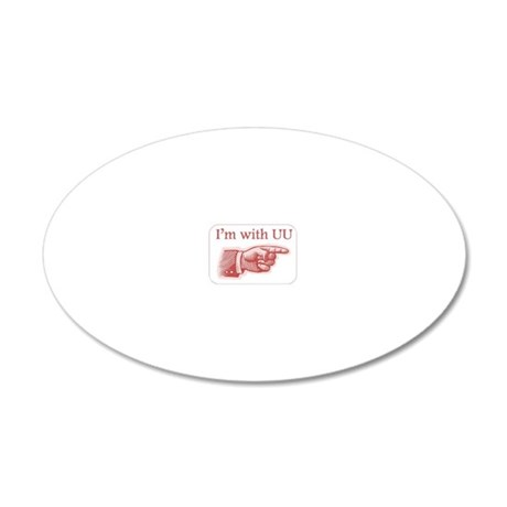 Im with UU 20x12 Oval Wall Decal