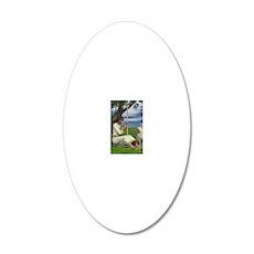 Domitilla_16x20 20x12 Oval Wall Decal