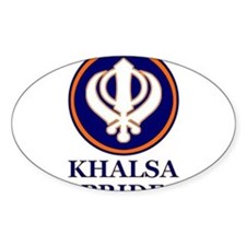 Khalsa Pride Oval Decal