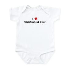 I love Oktoberfest Beer Infant Bodysuit