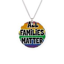 Rainbow all families matter Necklace