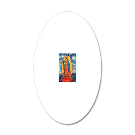 CrossFit Lady of Guadalupe 20x12 Oval Wall Decal