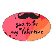 Mustache You Valentine Decal