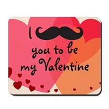 Mustache You Valentine Mousepad