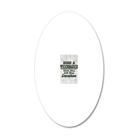 hire a teenager fa 20x12 Oval Wall Decal