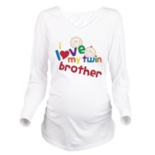 Love My Twin Long Sleeve Maternity T-Shirt