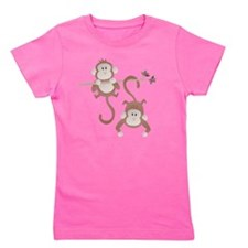 Cartoon monkeys hanging around Girl's Tee