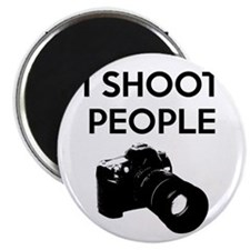I shoot people - photography Magnet